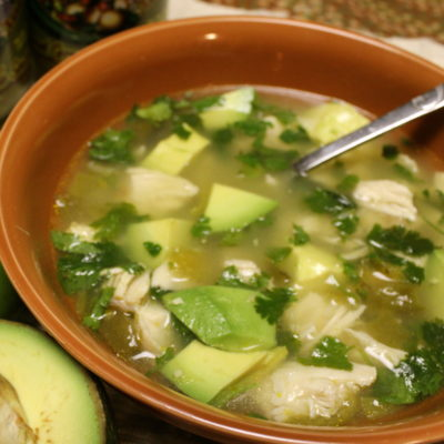 Ol' Gringo Avocado Lime Chicken Soup
