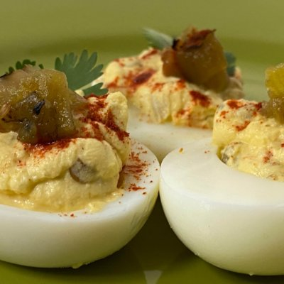 Ol' Gringo Green Chile Deviled Eggs