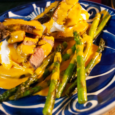 Steak & Eggs Benedict With Red Chile Lime Hollandaise